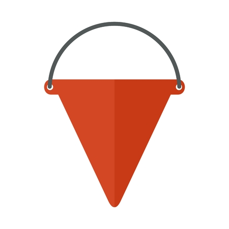 Fire cone on white. Firefighter equipment and clothing, tools, accessories.