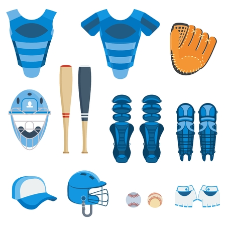 Baseball protect equipment Illustration