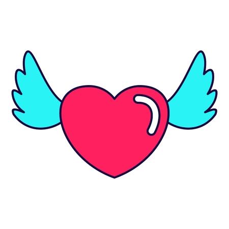 heart love wings Illustration