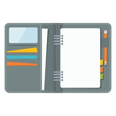 note pad: Blank business organizer