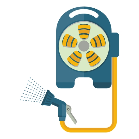 Watering equipment hose icon. Flat vector cartoon illustration. Objects isolated on a white background.