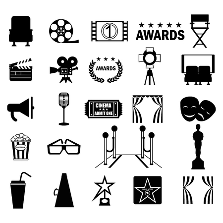 Cinema icon set Illustration