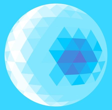 Light blue triangle sphere