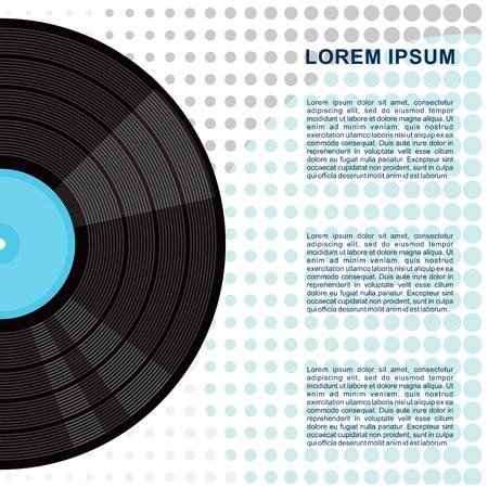 Affiche de disques vinyliques de vinyle. Illustration vectorielle de dessin animé plat. Objets isolés Vecteurs