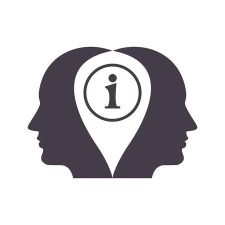 inform information: information concept icon Illustration