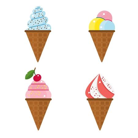 set of ice cream Illustration