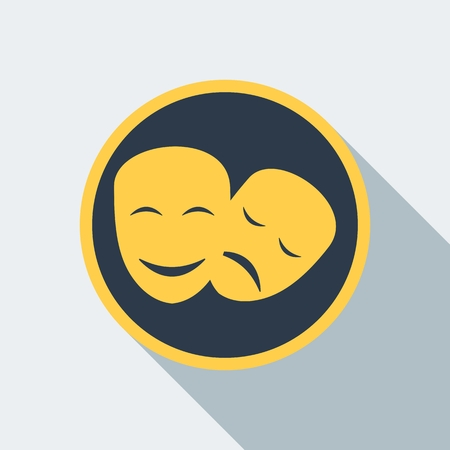 comedy: cinema mask icon