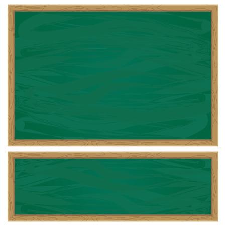 blank blackboard and green chalkboard background whiteboard