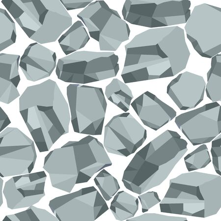 countertop: Big grey stone seamless pattern. Flat vector cartoon illustration. Objects isolated on a white background.