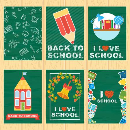 school class: school banners set