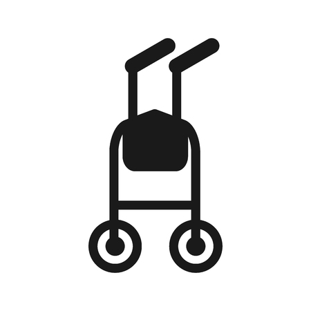 Walkers for patients to use to assist them with their mobility. Flat vector illustration. Flat vector cartoon illustration. Objects isolated on a white background. Illustration