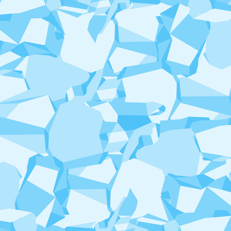 Brilliant cold blocks of ice background. Flat vector cartoon illustration. Objects isolated on a white background.