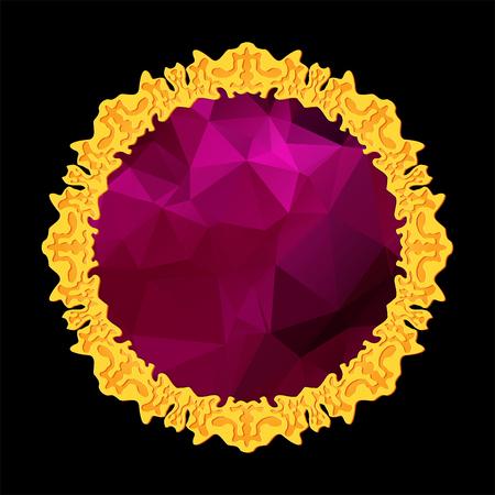 celtic lilac gemstone Illustration