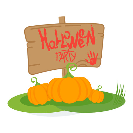 Halloween party poster. For decoration of congratulatory products for Halloween. Illustration