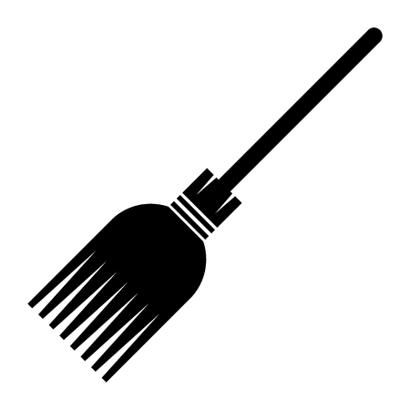 Witch broomstick icon isolated. Design element for decoration of congratulatory products for Halloween.