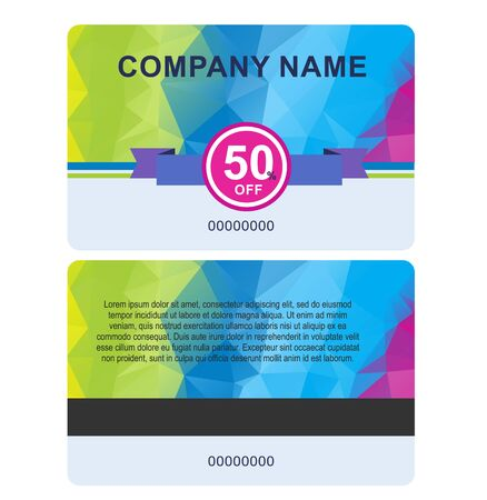 A sale card template isolated on white background.