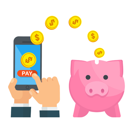 piggy bank pay save money