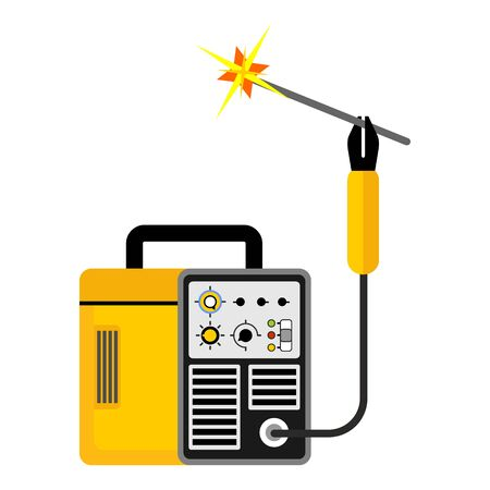Welding equipment icon. Flat vector cartoon illustration. Objects isolated on white background.