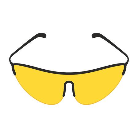 Gafas de bicicleta amarilla Foto de archivo - 89396867