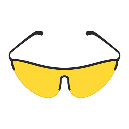 yellow bicycle glasses