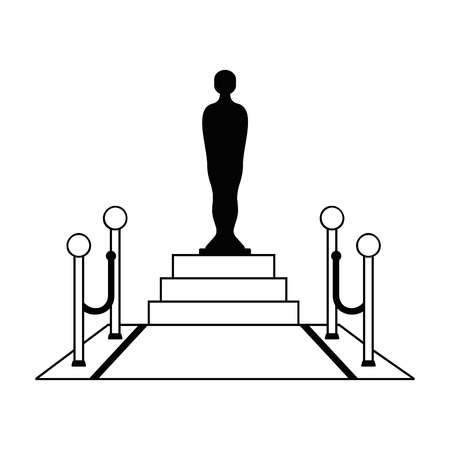 Cinema icon. Film award sign. Flat vector cartoon illustration. Objects isolated on a white background. Illustration
