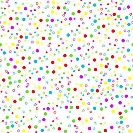 confetti seamless pattern white Illustration