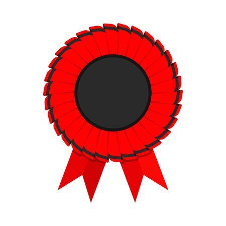 Red ribbon award icon
