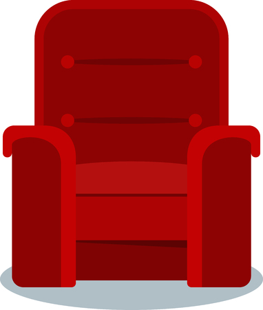 Cinema red chair vector illustration design on white background Ilustrace