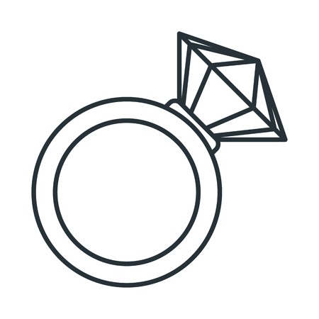 Wedding diamond ring vector illustration.