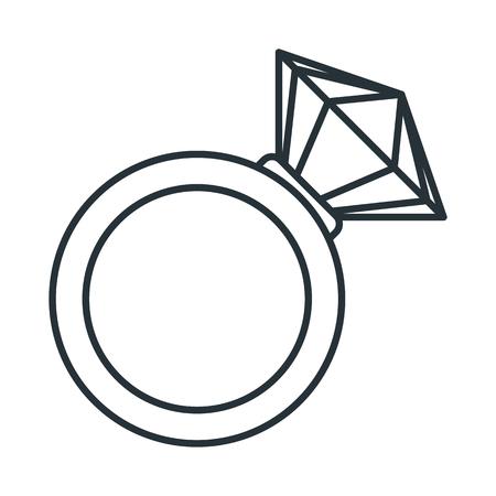 Wedding diamond ring vector illustration.