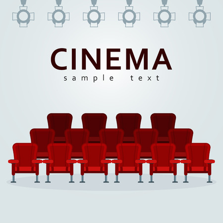 A cinema poster template isolated on gray background.