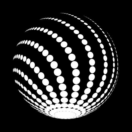 A halftone white circle isolated on plain background. Illustration