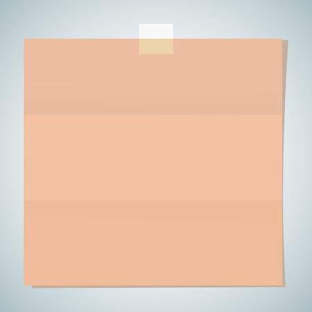 note paper sheet Stock Illustratie