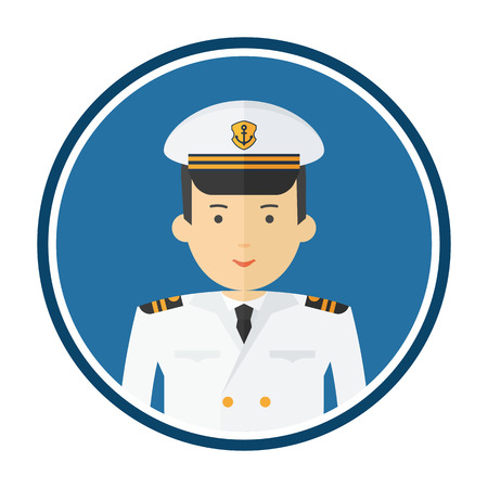Ship captain character  illustration. Illustration