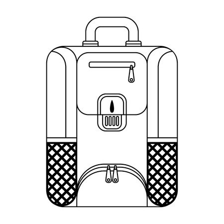 Tourist, city and school backpack flat vector outline icon. Objects isolated on white background. Stock Illustratie