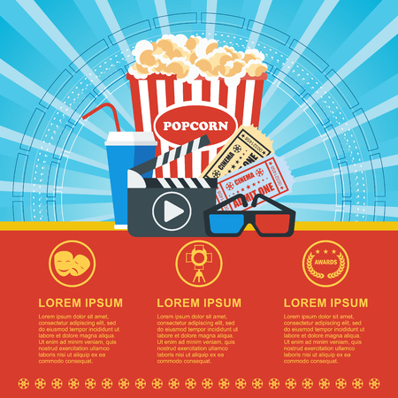 Cinema blue poster