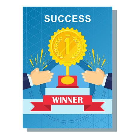 business poster success 일러스트