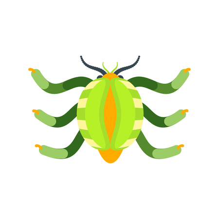 virus or bug in green color icon