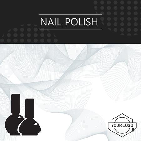 Bail polish banner template design abstract illustration.