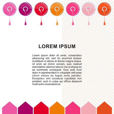 nail polish poster template vector illustration Illustration