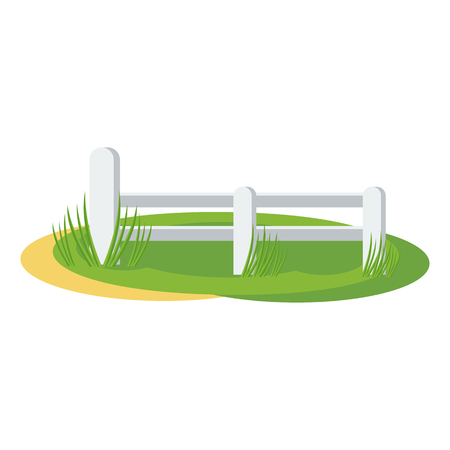 country fence illustration