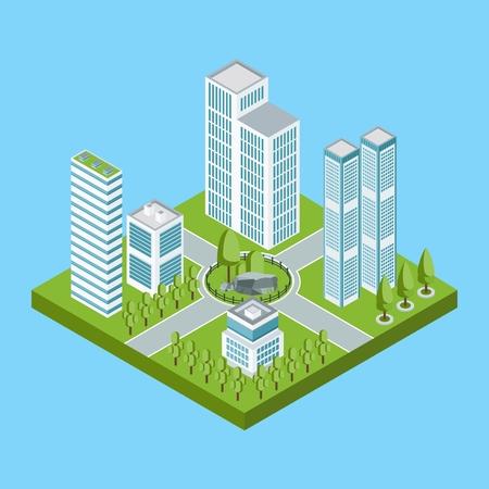 Isometric residential quarter