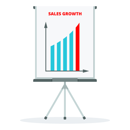 Sales growth concept 免版税图像 - 100028076