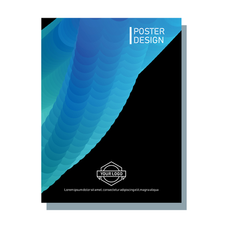 Abstract poster with blend colors. Illustration