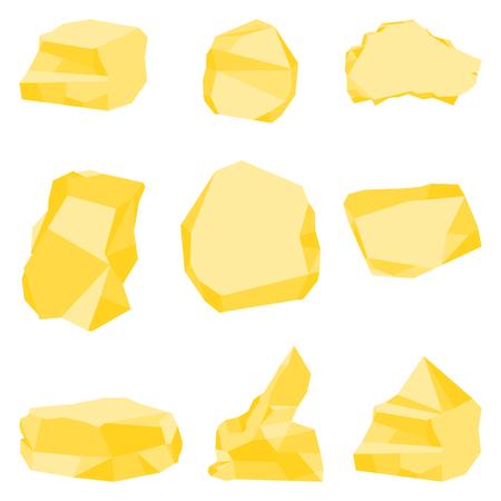 golden stones set