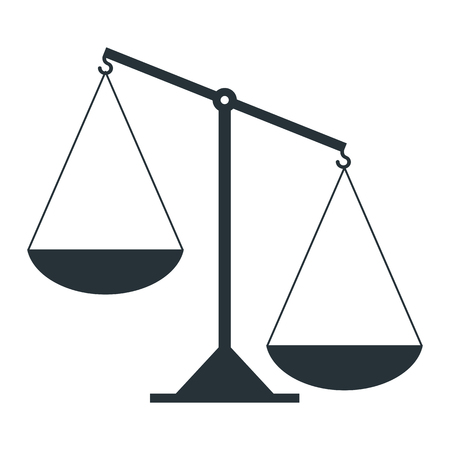 Scale of justice illustration.