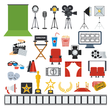 Cinema and video production icons