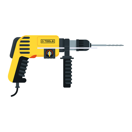 power tools hammer drill Vectores
