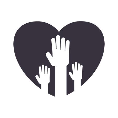 unity handpalm heart logo