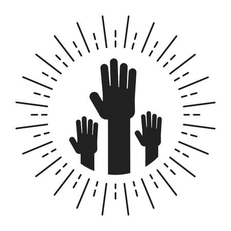 unity handpalm heart logo Logo